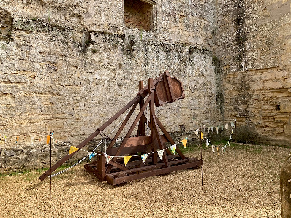 Engineering students have Trebuchet project displayed at Bodiam Castle