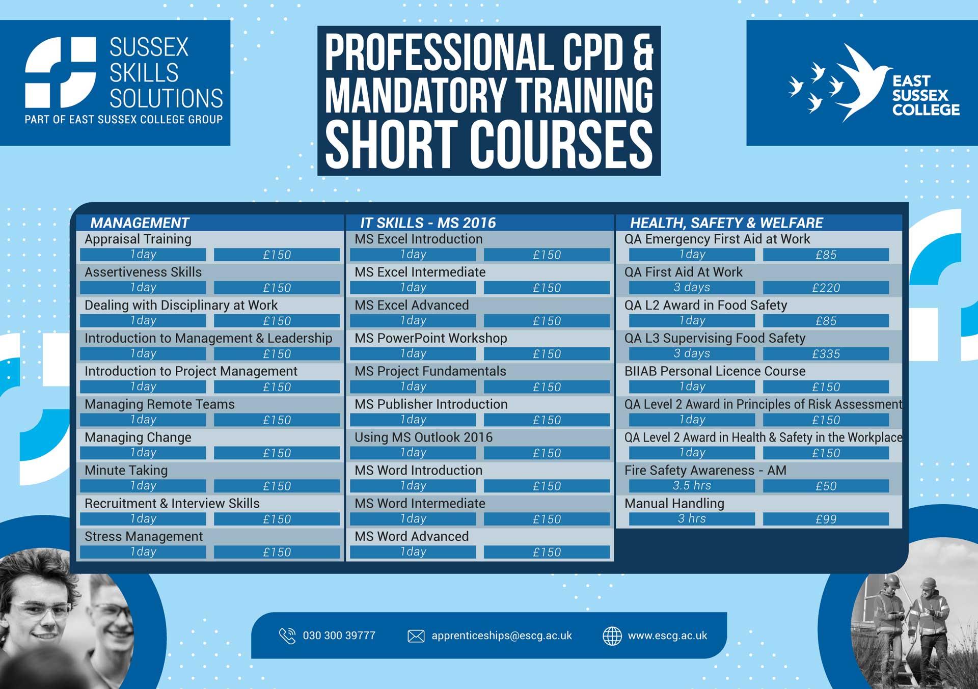 commercial short courses