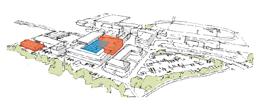 Artist's impression of the proposed development work in Eastbourne.