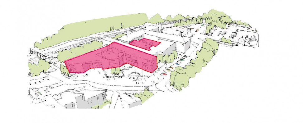 Artist's impression of the proposed development work in Lewes.